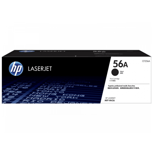 HP 56A Black Original LaserJet Toner Cartridge CF256A