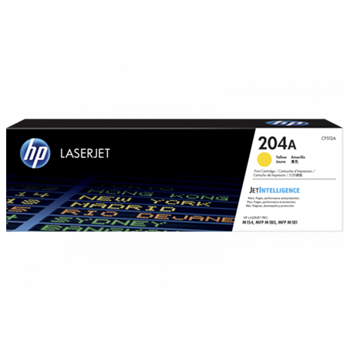 HP 204A yellow Original LaserJet Toner Cartridge CF512A