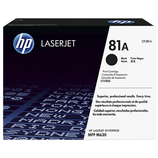 HP 81A Black Original LaserJet Toner Cartridge CF281A