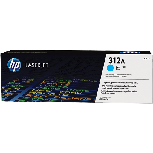 HP 312A Cyan Original LaserJet Toner Cartridge CF381A
