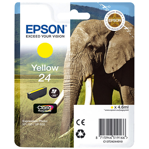 Epson Cartrisde HD ink 24 Yellow