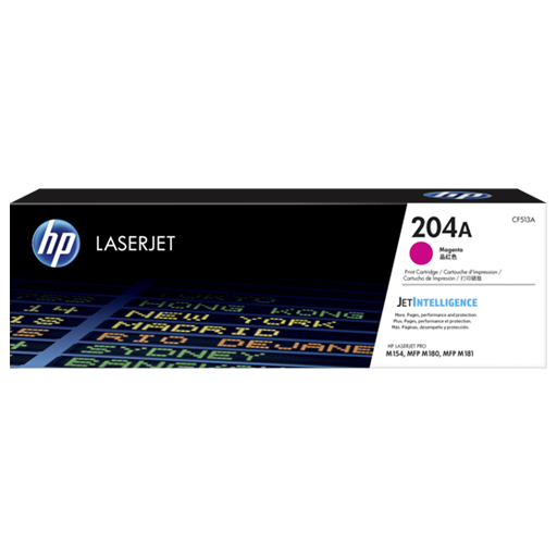 HP 204A Magenta Original LaserJet Toner Cartridge CF513A