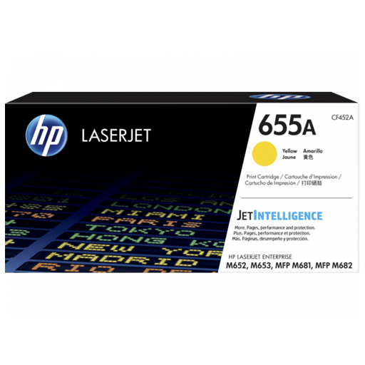 HP 655A Yellow Original LaserJet Toner Cartridge CF452A