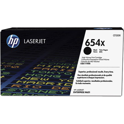 HP 654A black Original LaserJet Toner Cartridge