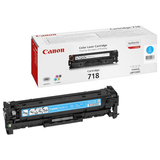 Canon 718 Cyan Original Laser Toner Cartridge