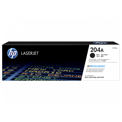 HP 204A Black Original LaserJet Toner Cartridge CF510A