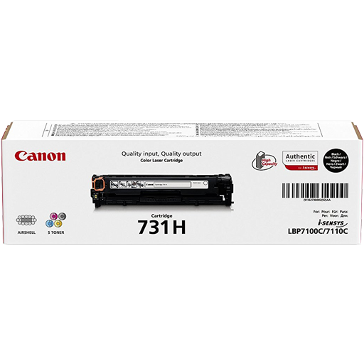 Genuine Black Canon 731 Black Toner Cartridge 6272B002