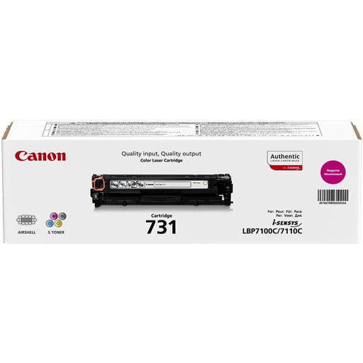 Genuine magenta Canon 731 Magenta Toner Cartridge 6270B002