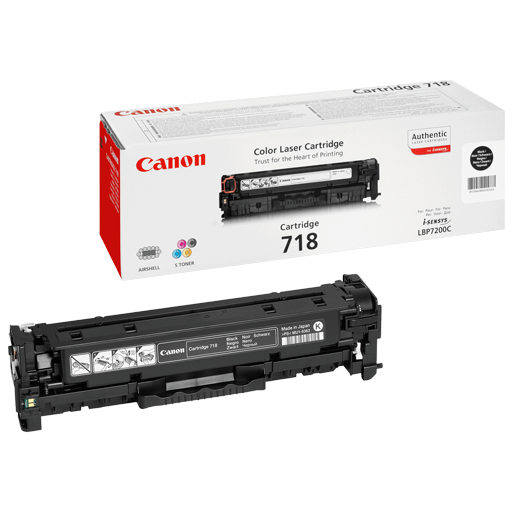 Canon 718 Black Original Laser Toner Cartridge