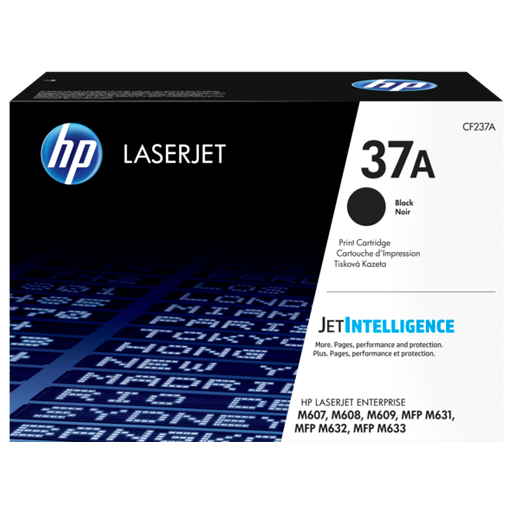 HP 37A Black Original LaserJet Toner Cartridge CF237A