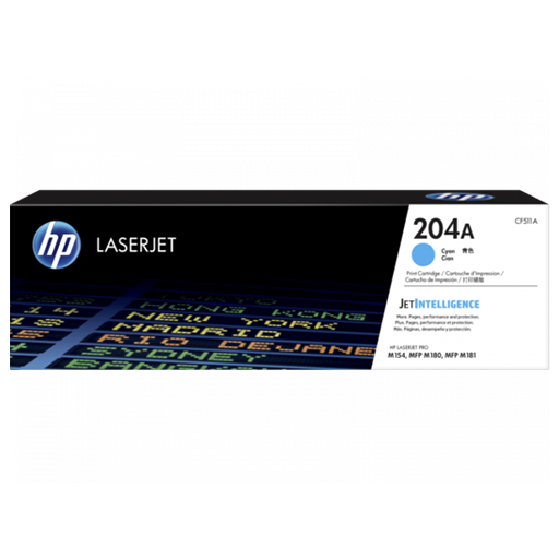 HP 204A Cyan Original LaserJet Toner Cartridge CF511A