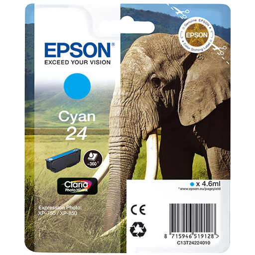 Epson Cartrisde HD ink 24 Cyan
